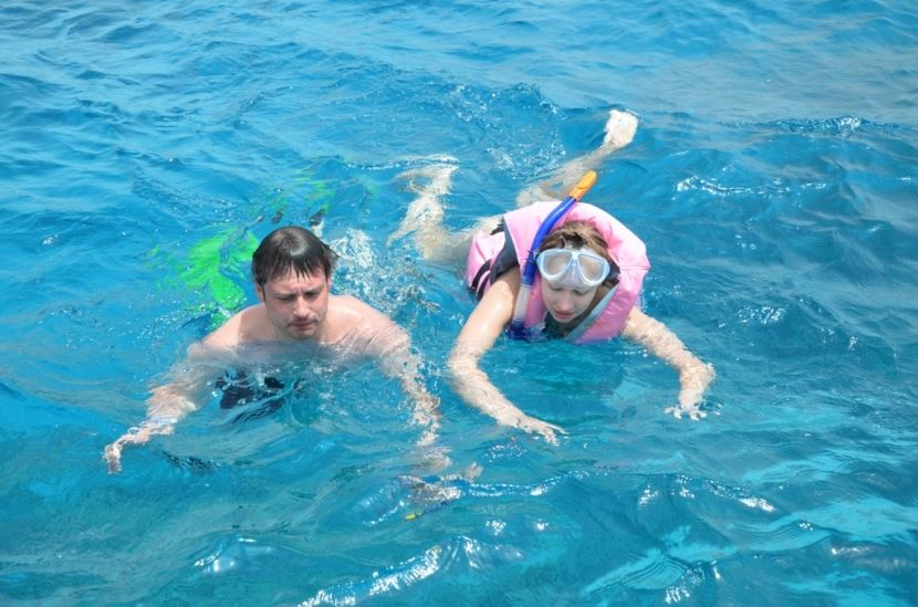 Swimming with Dolphins from Port Safaga