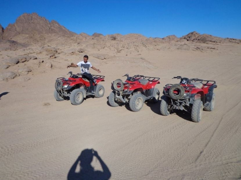 2 hour quad bike ride in the Egyptian desert from Sharm el Sheikh