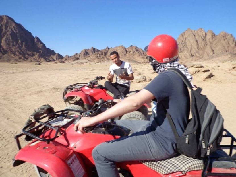 Quad Bike from elgouna and Safari with Bedouin BBQ and Camel Ride