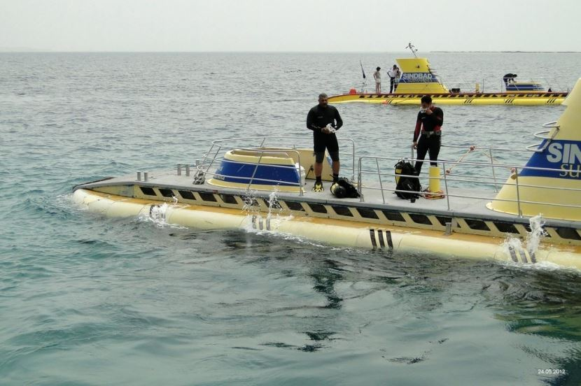 Sindbad Submarine from Hurghada.